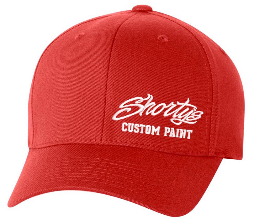 Embroidered Flexfit Hat | Red and White