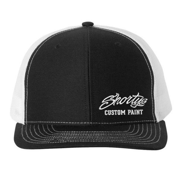 Embroidered Trucker Hat | Black and White