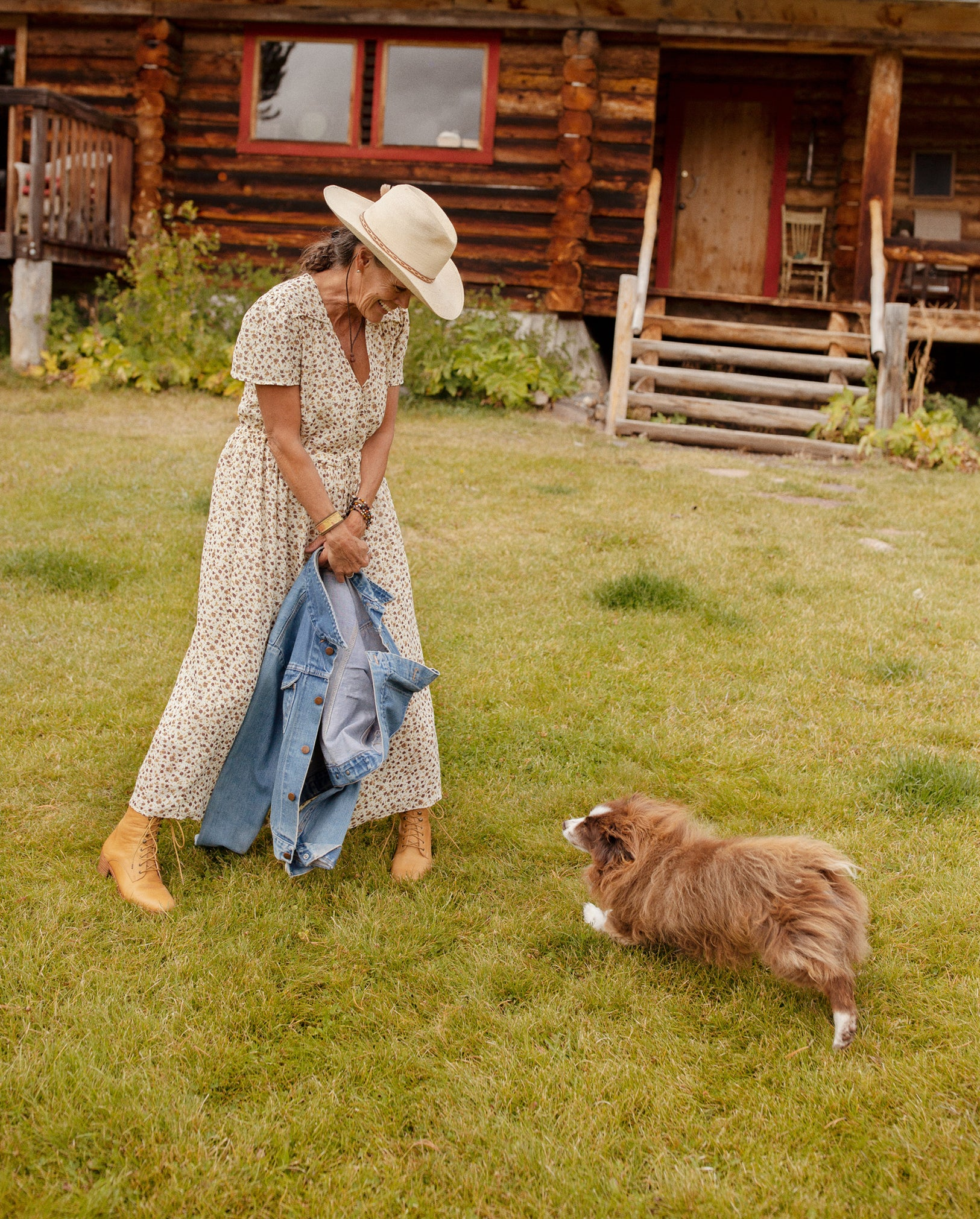 Jacki, the caretaker of T Cross Ranch, in The Dawn Dress