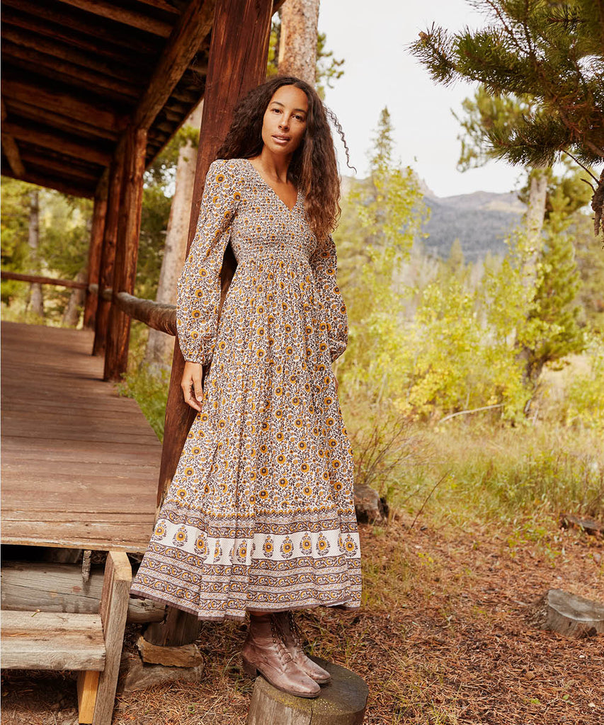 The Aimee Dress | Golden Sunflower (Ships 10/18)
