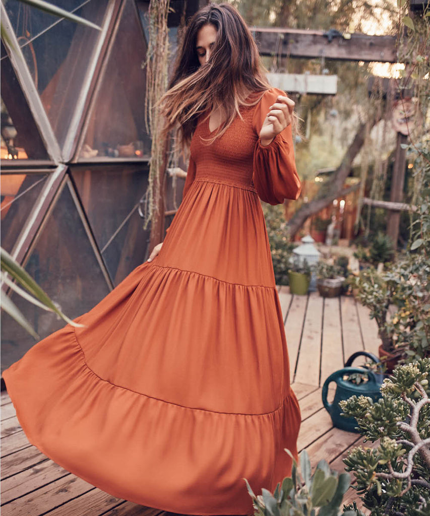 The Aimee Dress | Rust