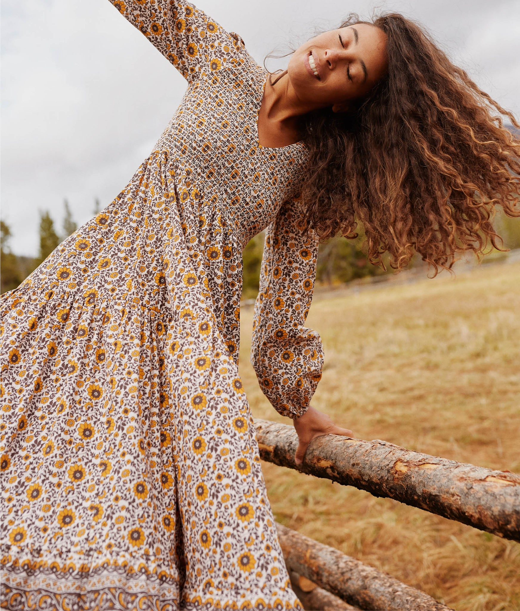 The Aimee Dress | Golden Sunflower