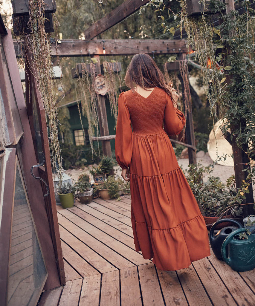 The Aimee Dress | Rust (Imperfect)