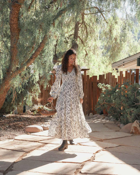 The Aimee Dress   Navy Vine (Imperfect)