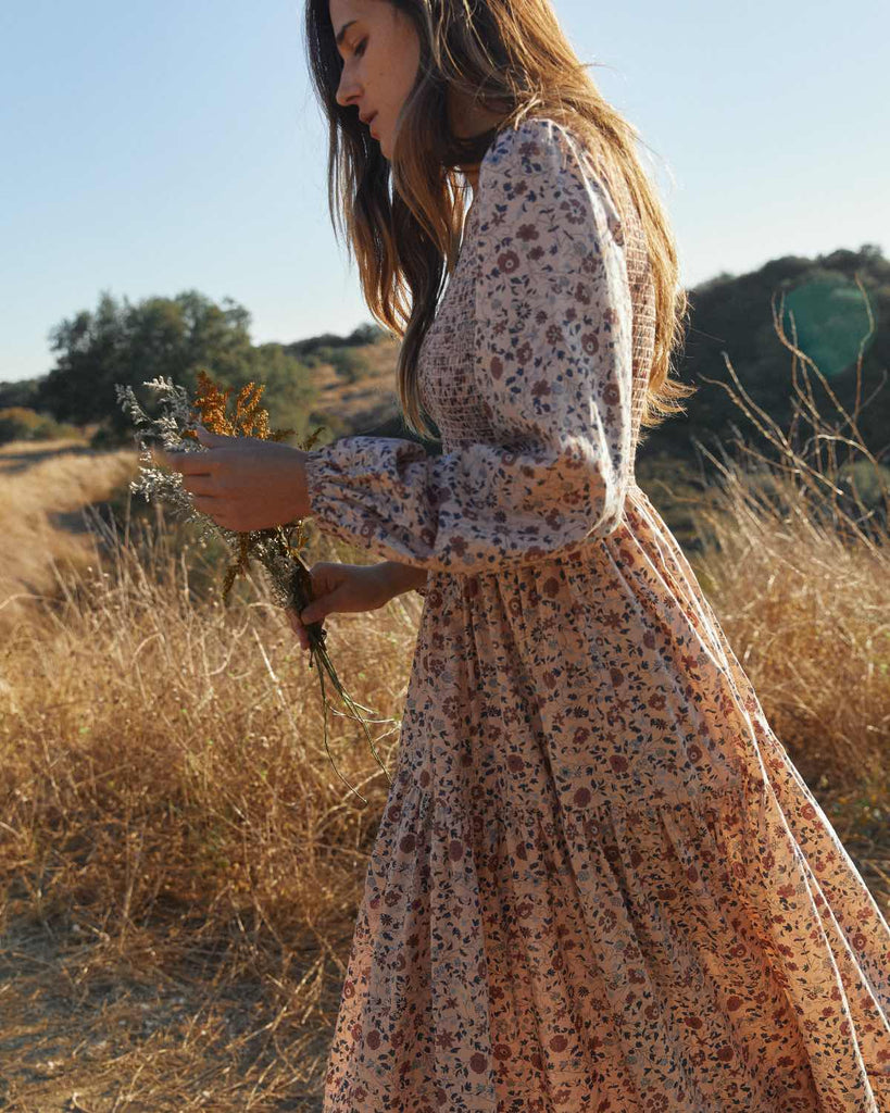 The Aimee Dress | Sand Anemone Vine