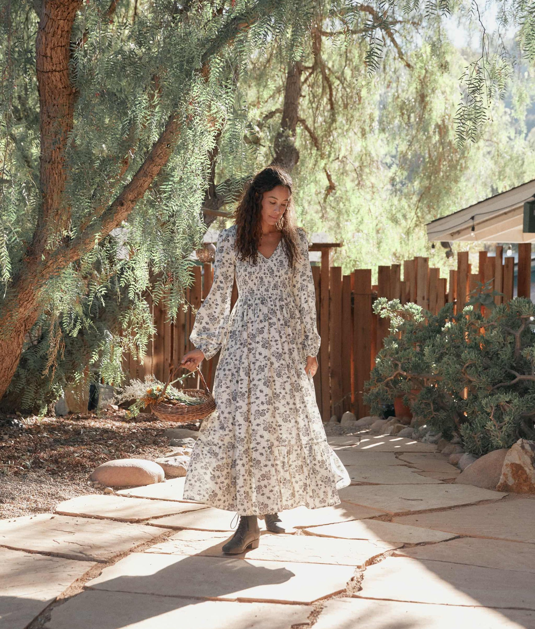 The Aimee Dress | Navy Vine