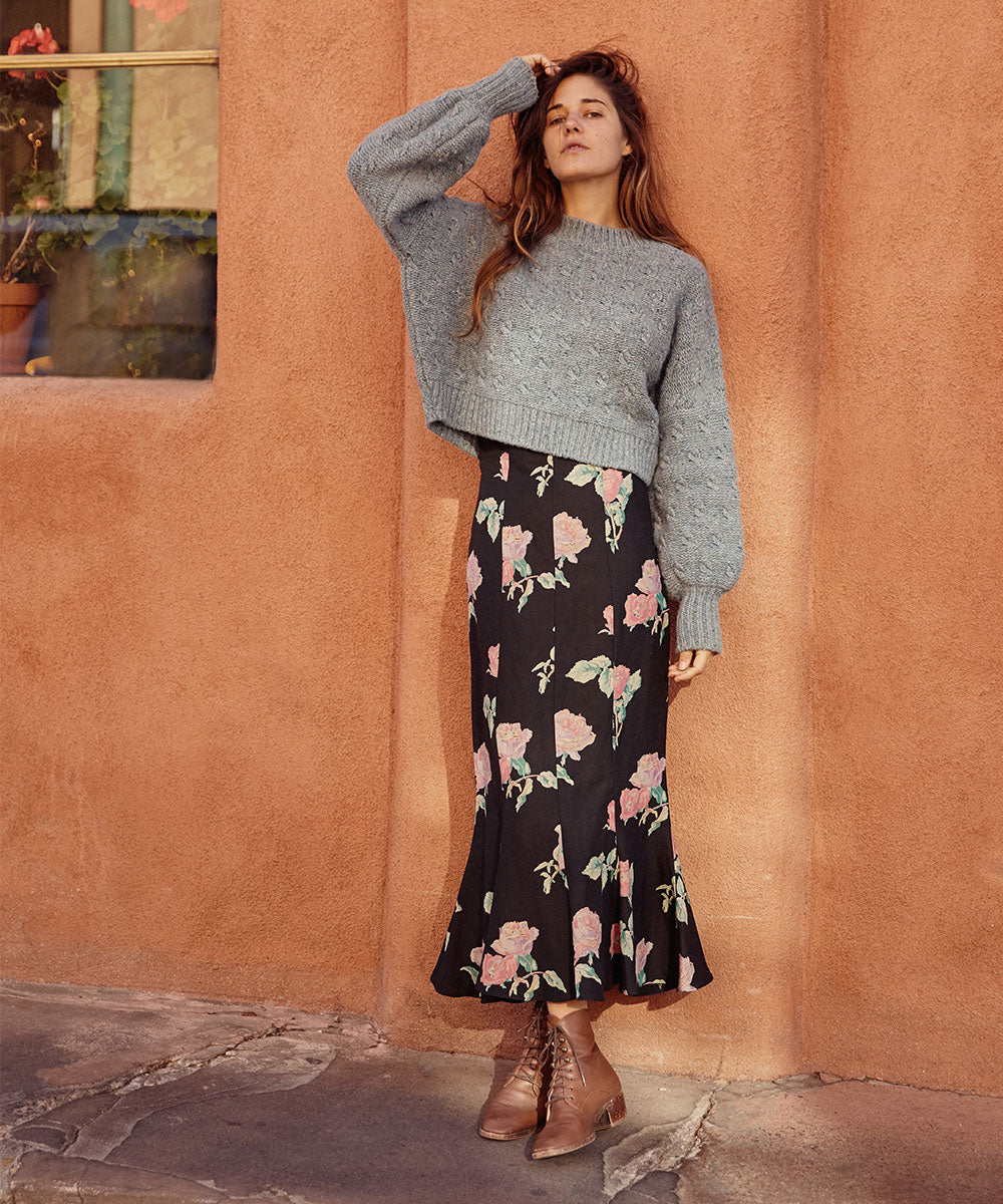 The Alma Skirt | Noir Rose