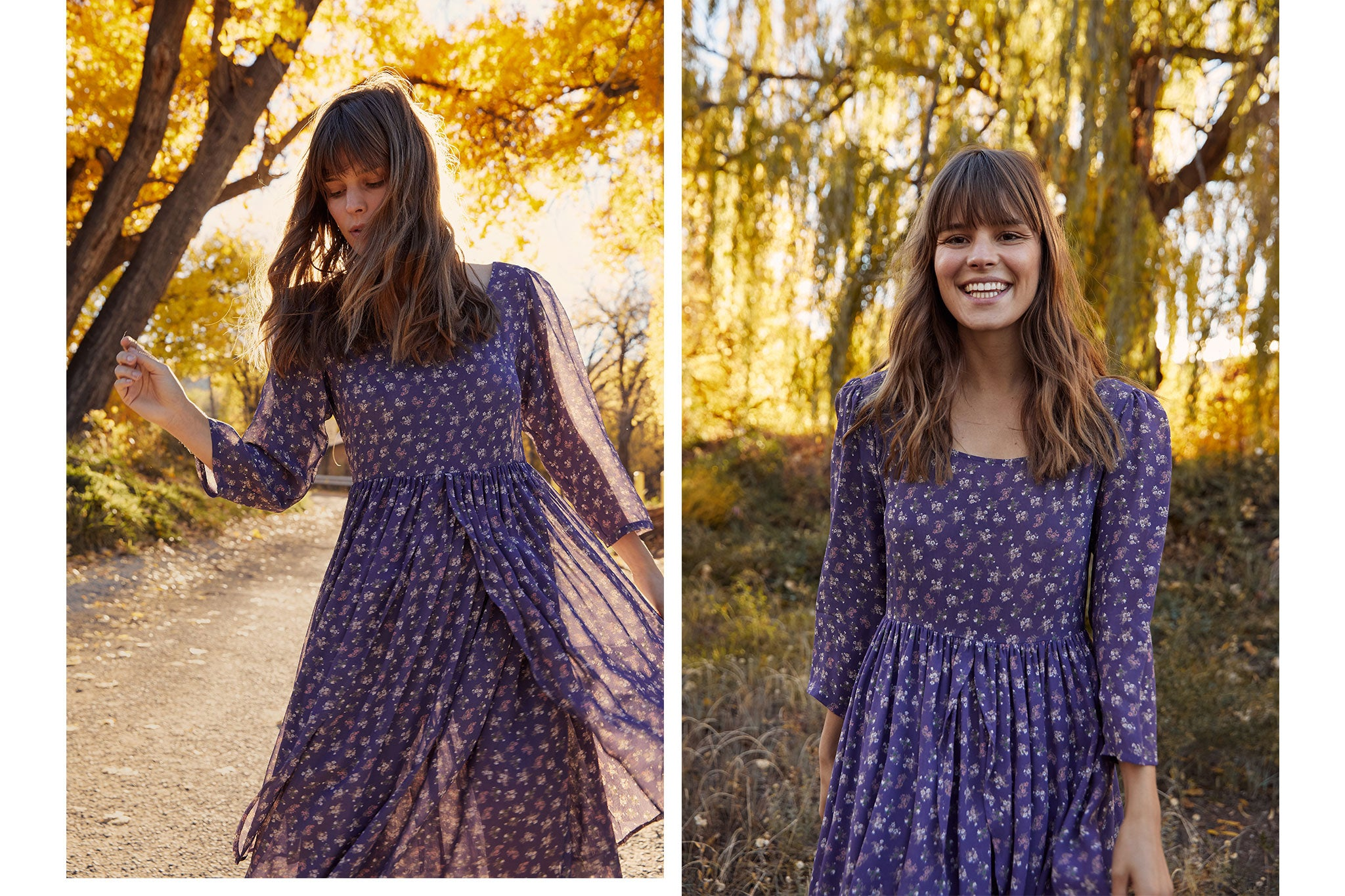 The Amelia Dress | Periwinkle Floral
