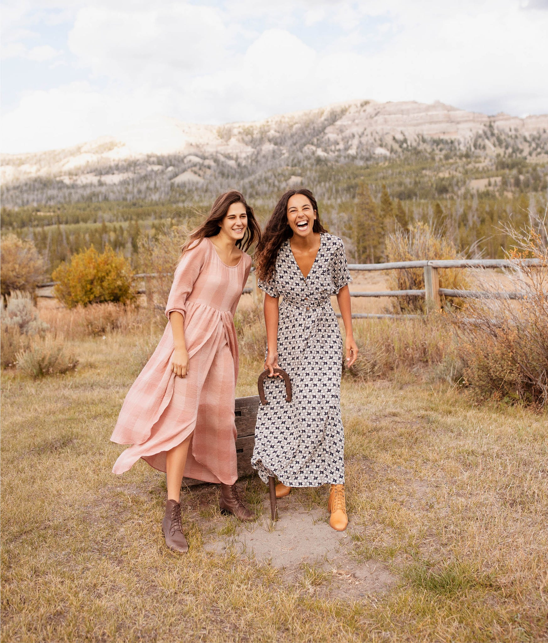 The Amelia Dress | Washed Salmon Checker