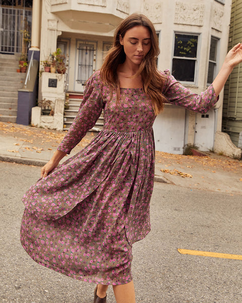 The Amelia Dress | Pebble Floral