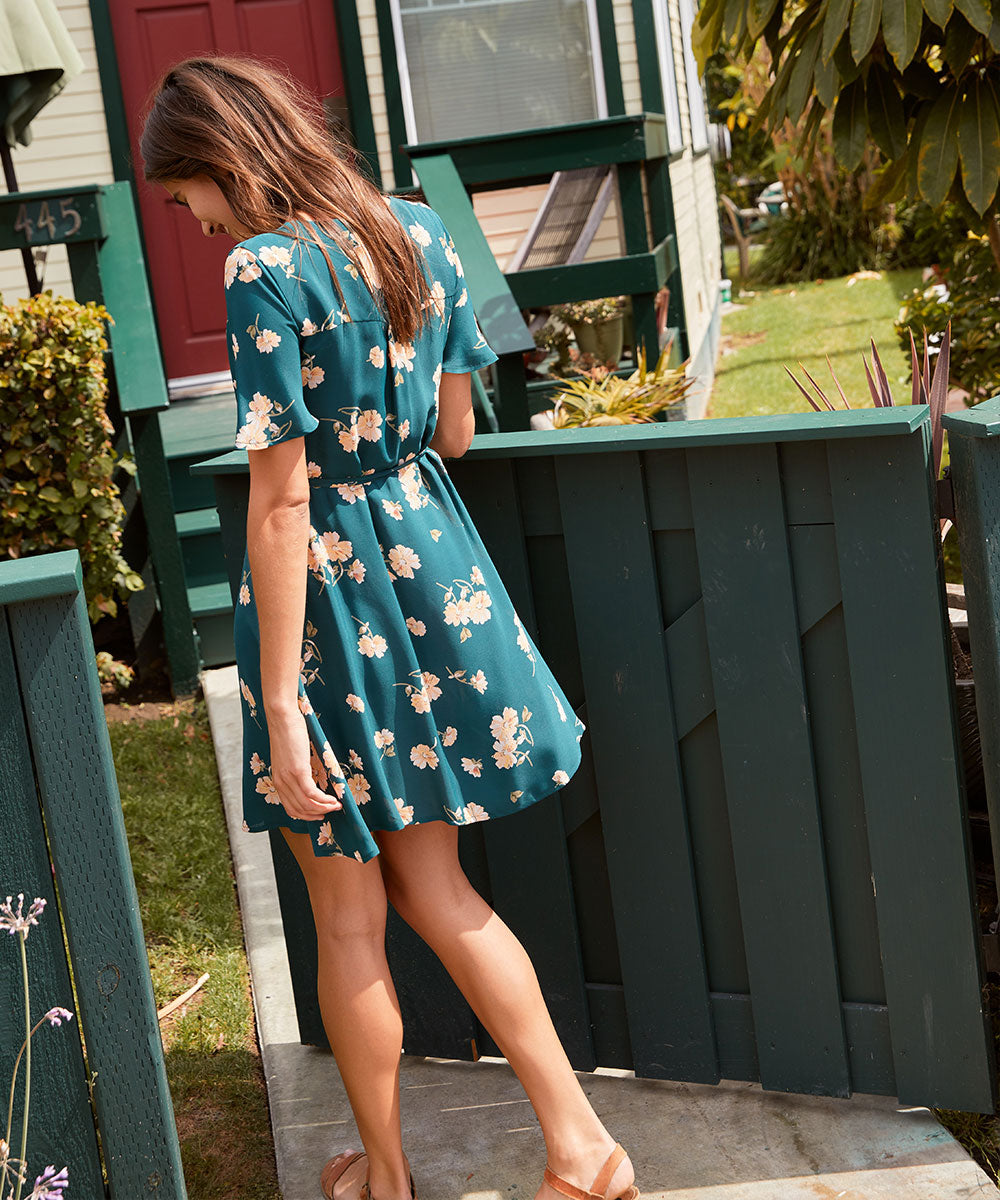 The Anya Dress | Viridian Floral