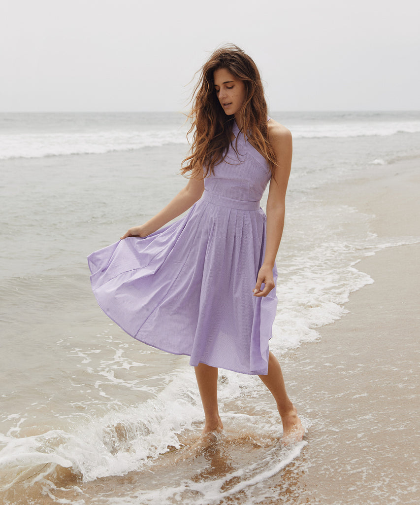 The Arrow Dress | Violet Gingham