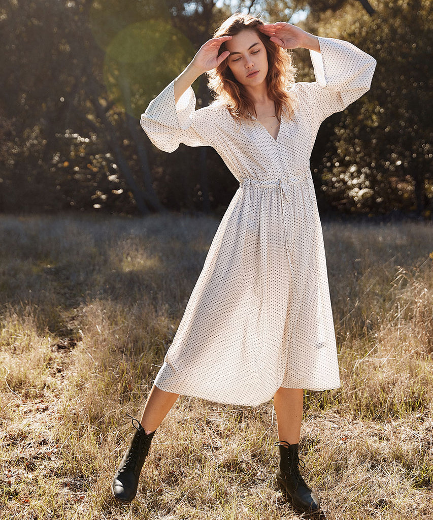 The Aster Dress Petites | Ivory Ditsy image 2