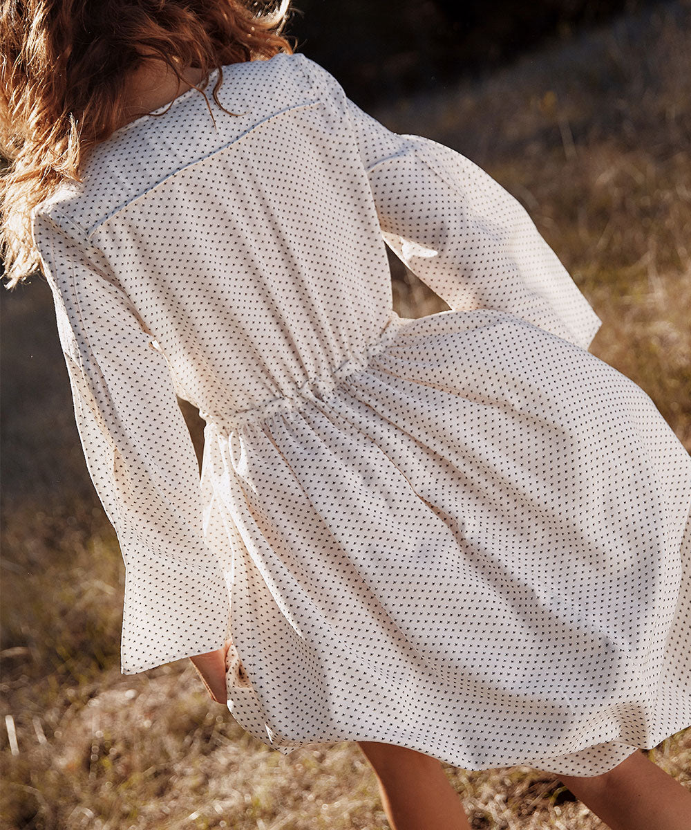 The Aster Dress Petites | Ivory Ditsy