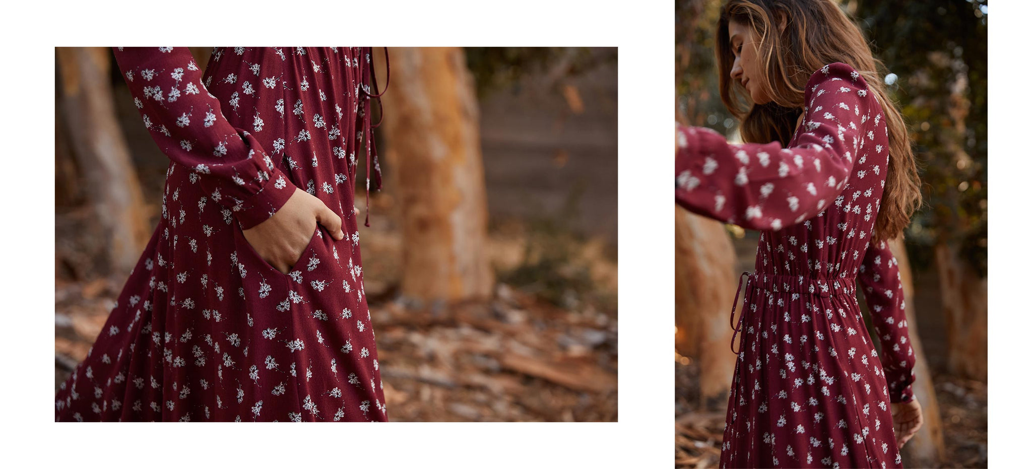 The Audrey Dress | Oxblood Floral
