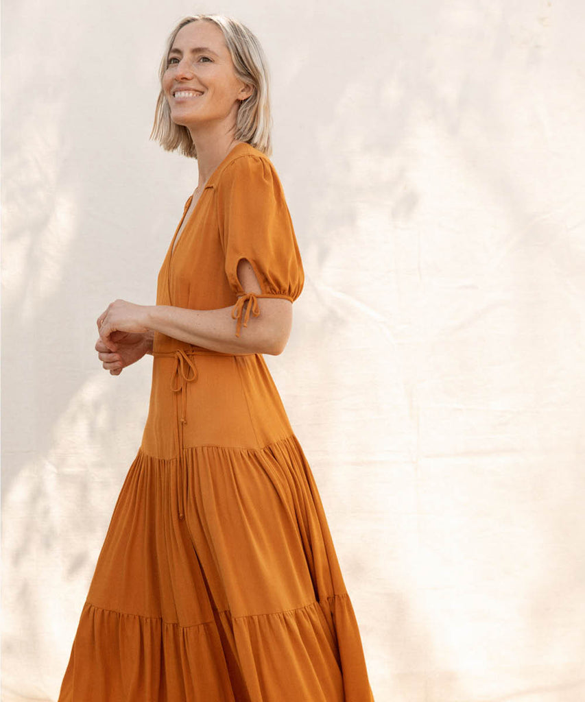 The Augusta Dress | Turmeric image 16