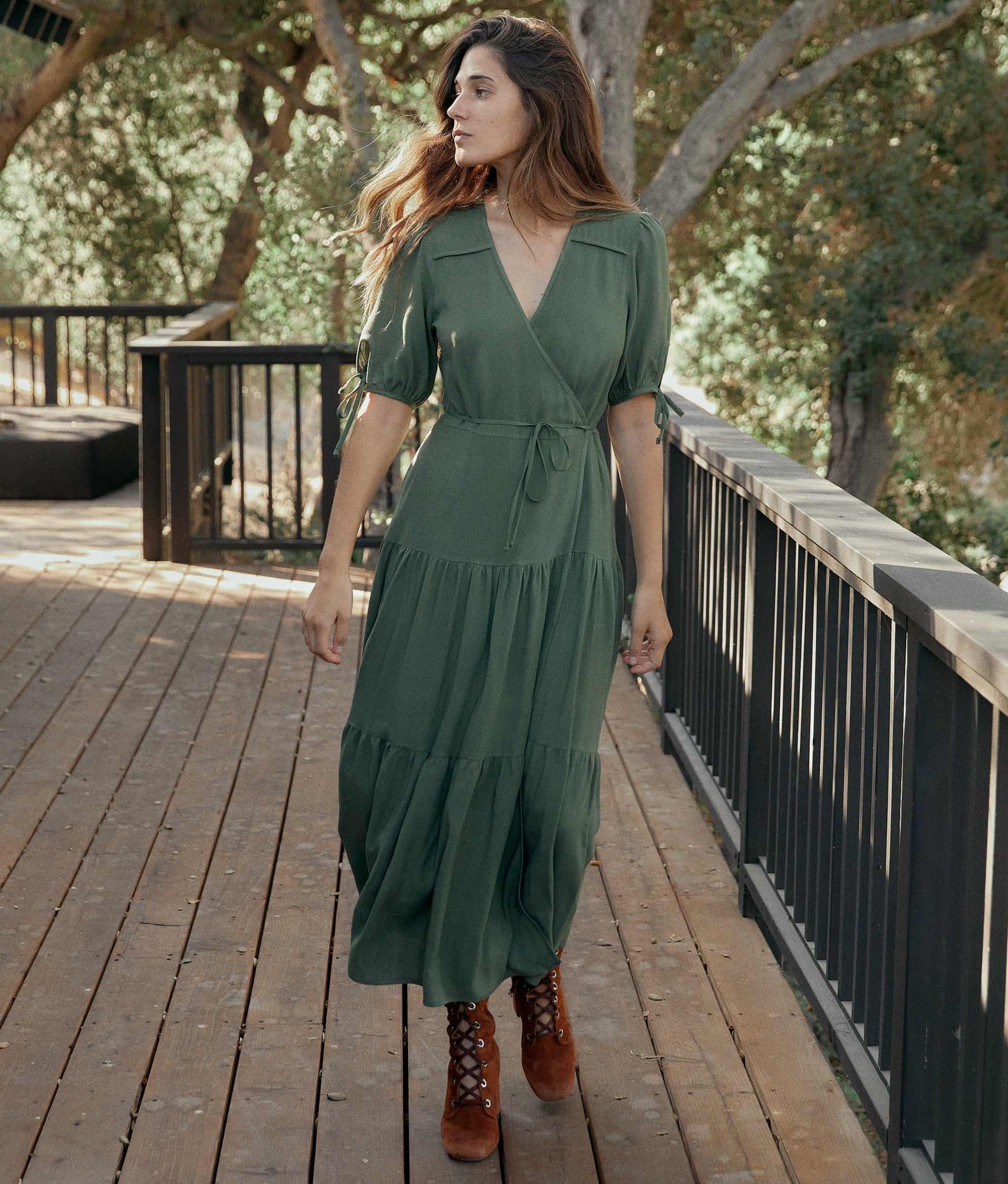 The Augusta Dress | Washed Pine