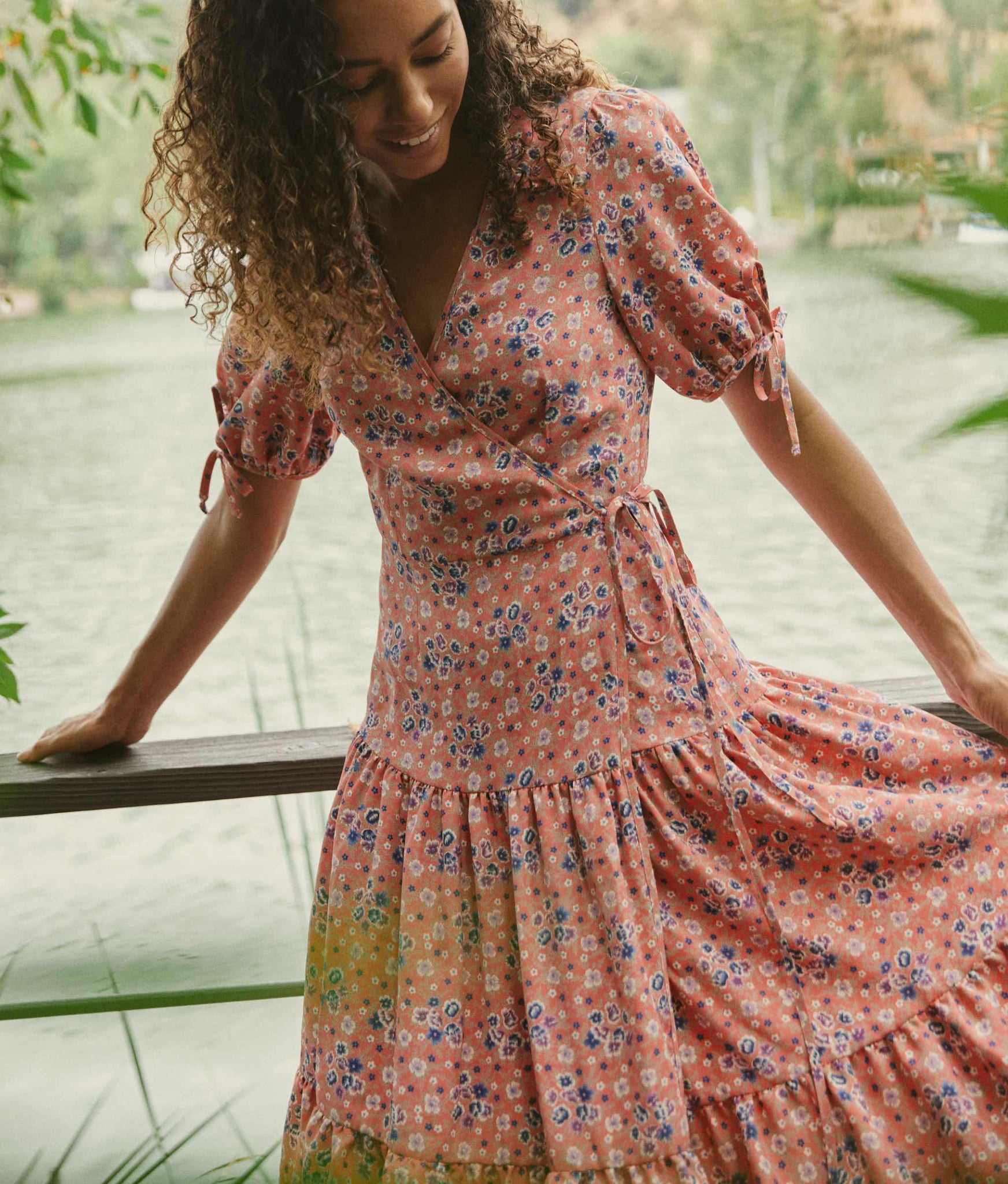 The Augusta Dress | Persimmon Floral (3-of-a-Kind)