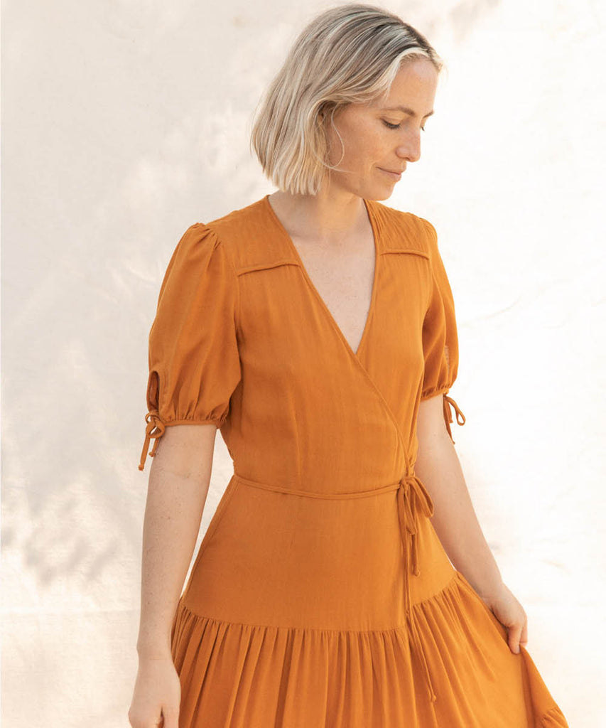 The Augusta Dress | Turmeric image 12