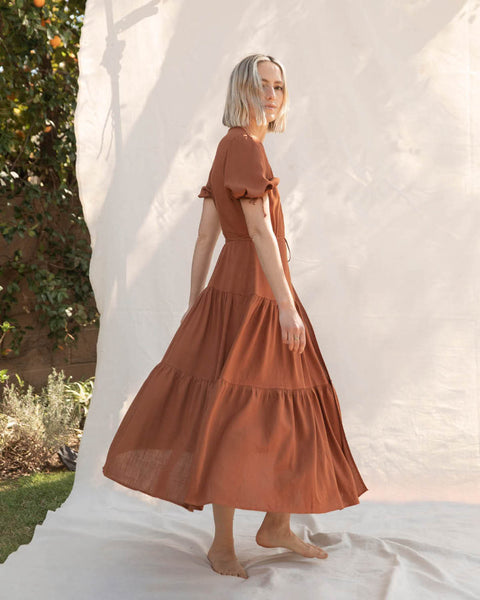 The Augusta Dress | Rust