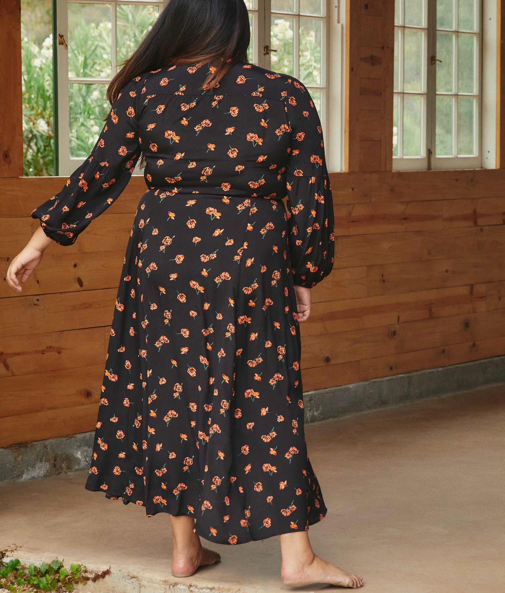The Bergen Dress Extended | Persimmon Blossom