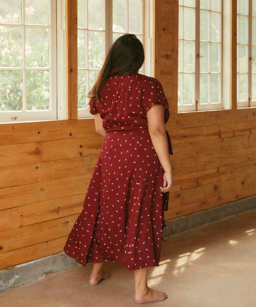 The Autumn Dress Extended | Currant Floral