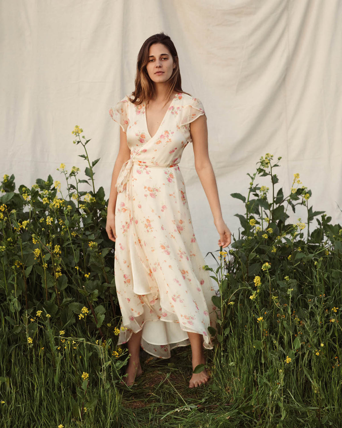 The Autumn Dress | Summer Blossom (Silk)