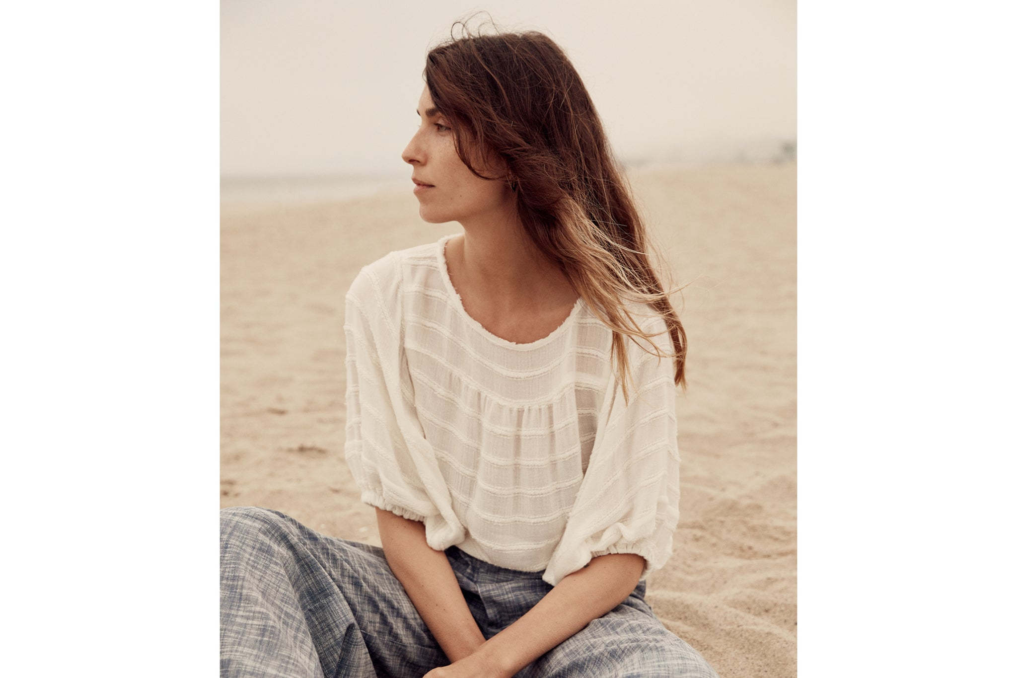 The Aya Top | Ivory Stripe