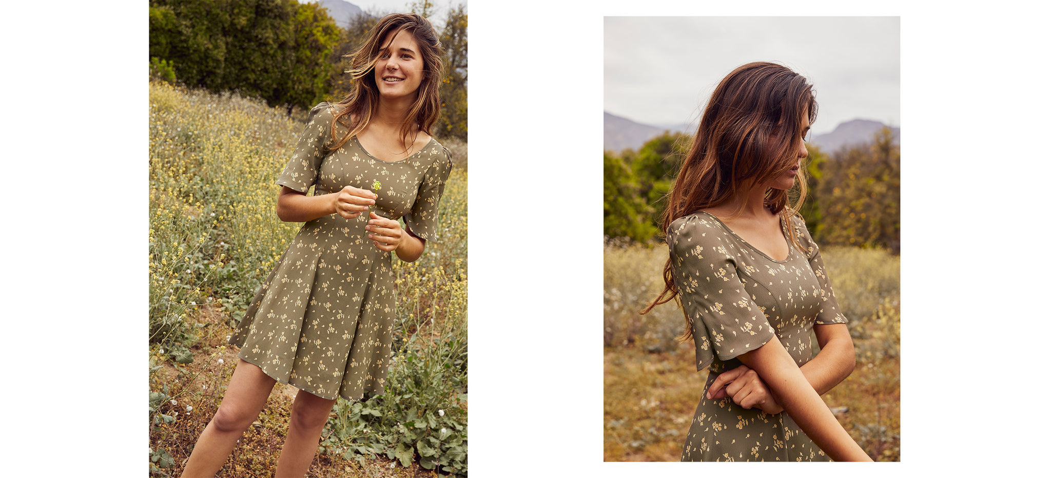 The Azalea Dress | Sage Spray