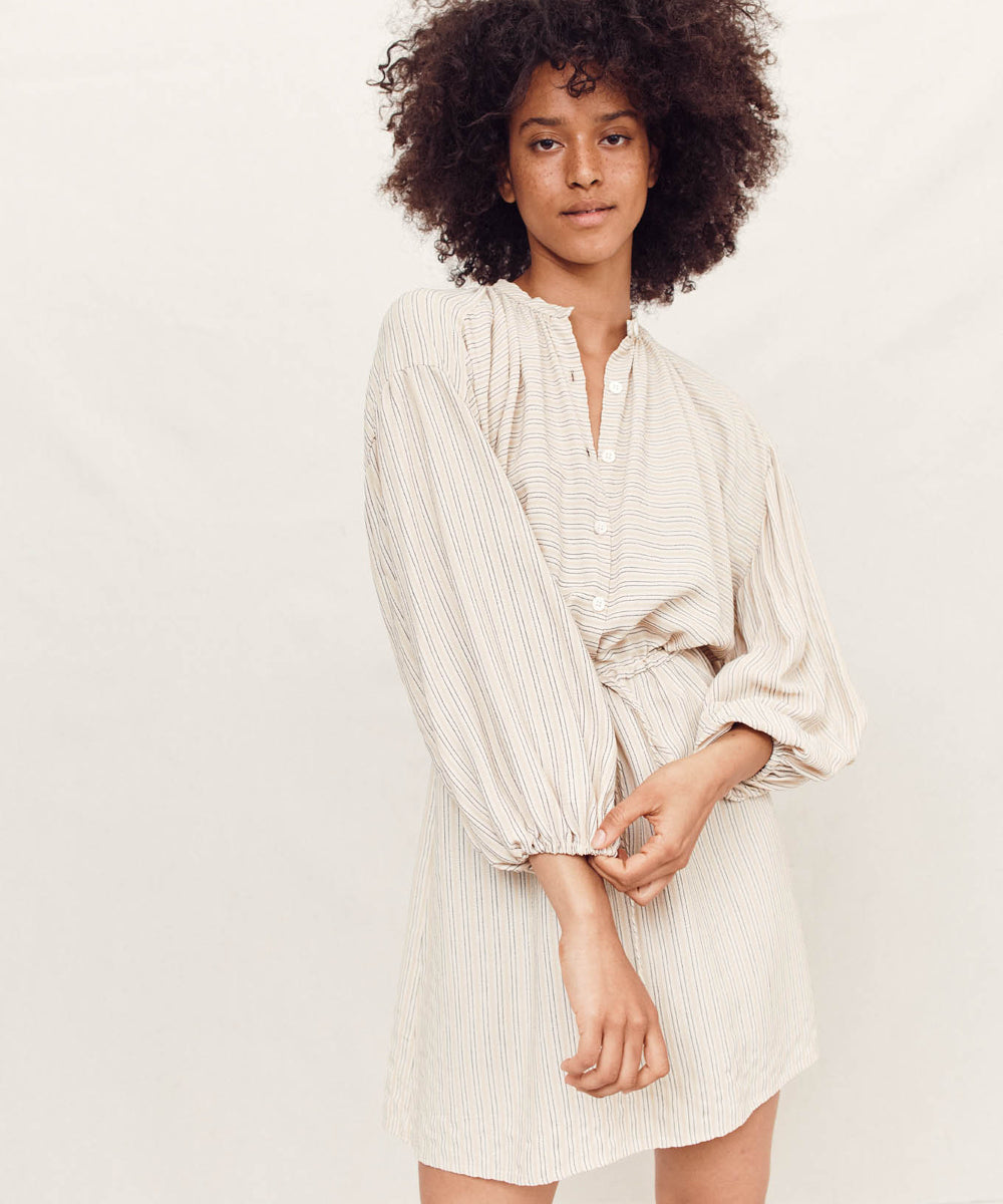 The Bonnie Dress | Flax Stripe
