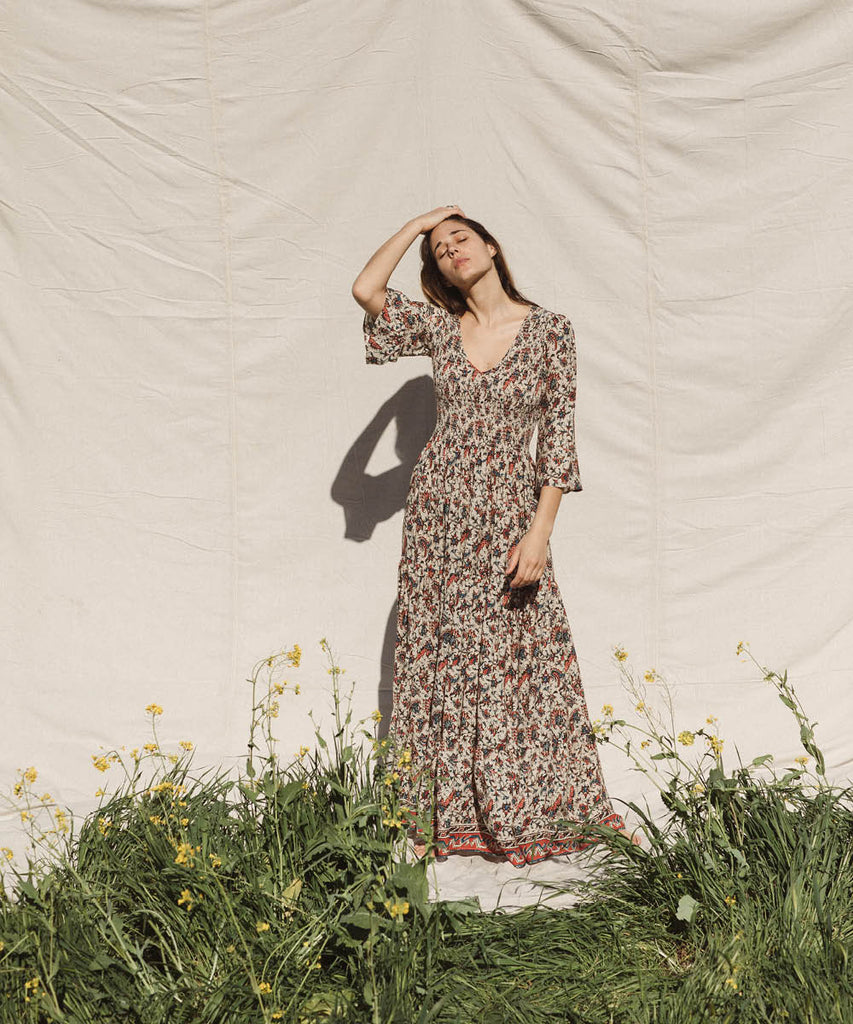 The Basil Dress | French Paisley