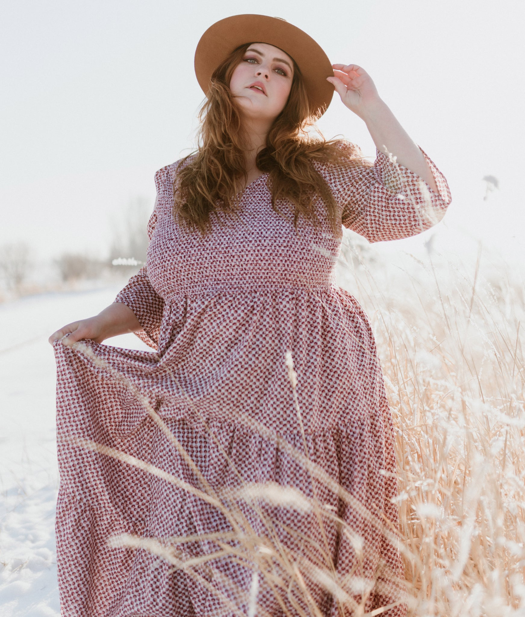 The Basil Dress Extended | Thulian Anemone Field
