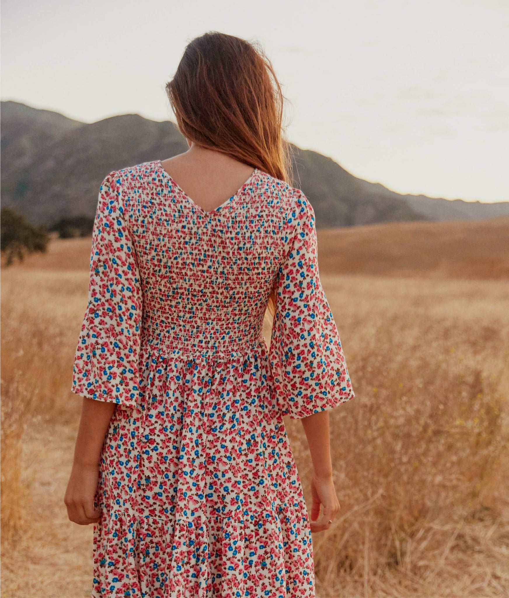 The Basil Dress | Carnation Bloom
