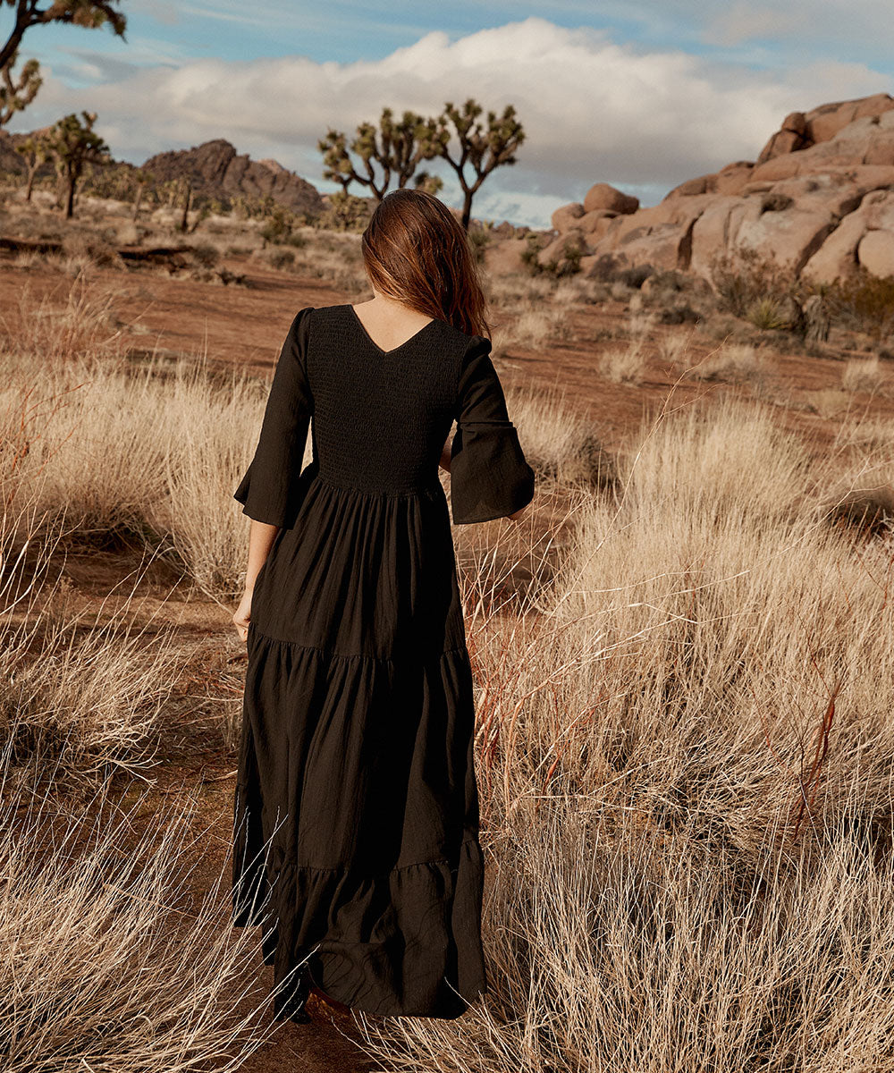 The Basil Dress | Noir