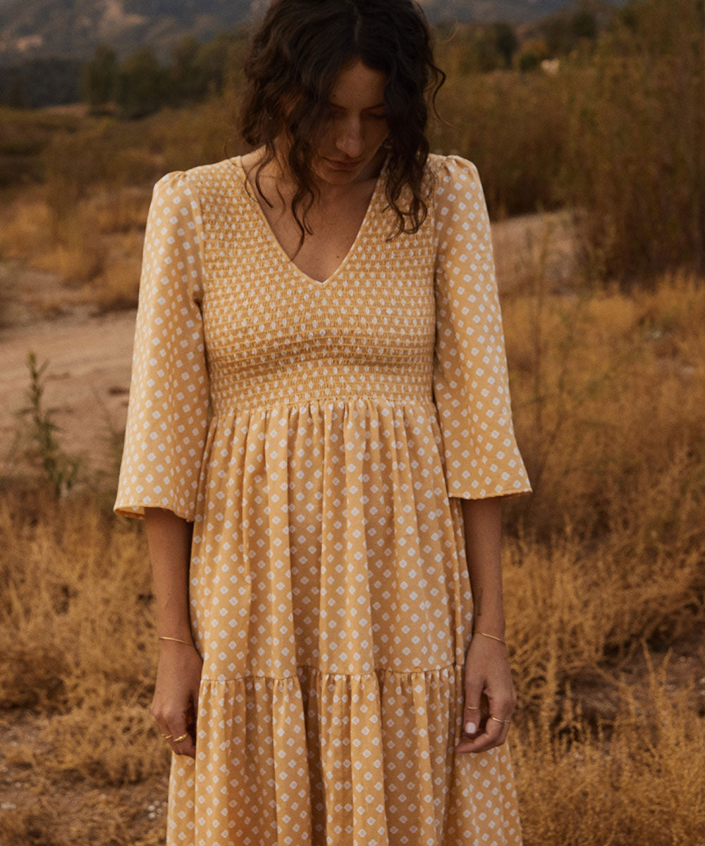 The Basil Dress | Sunflower