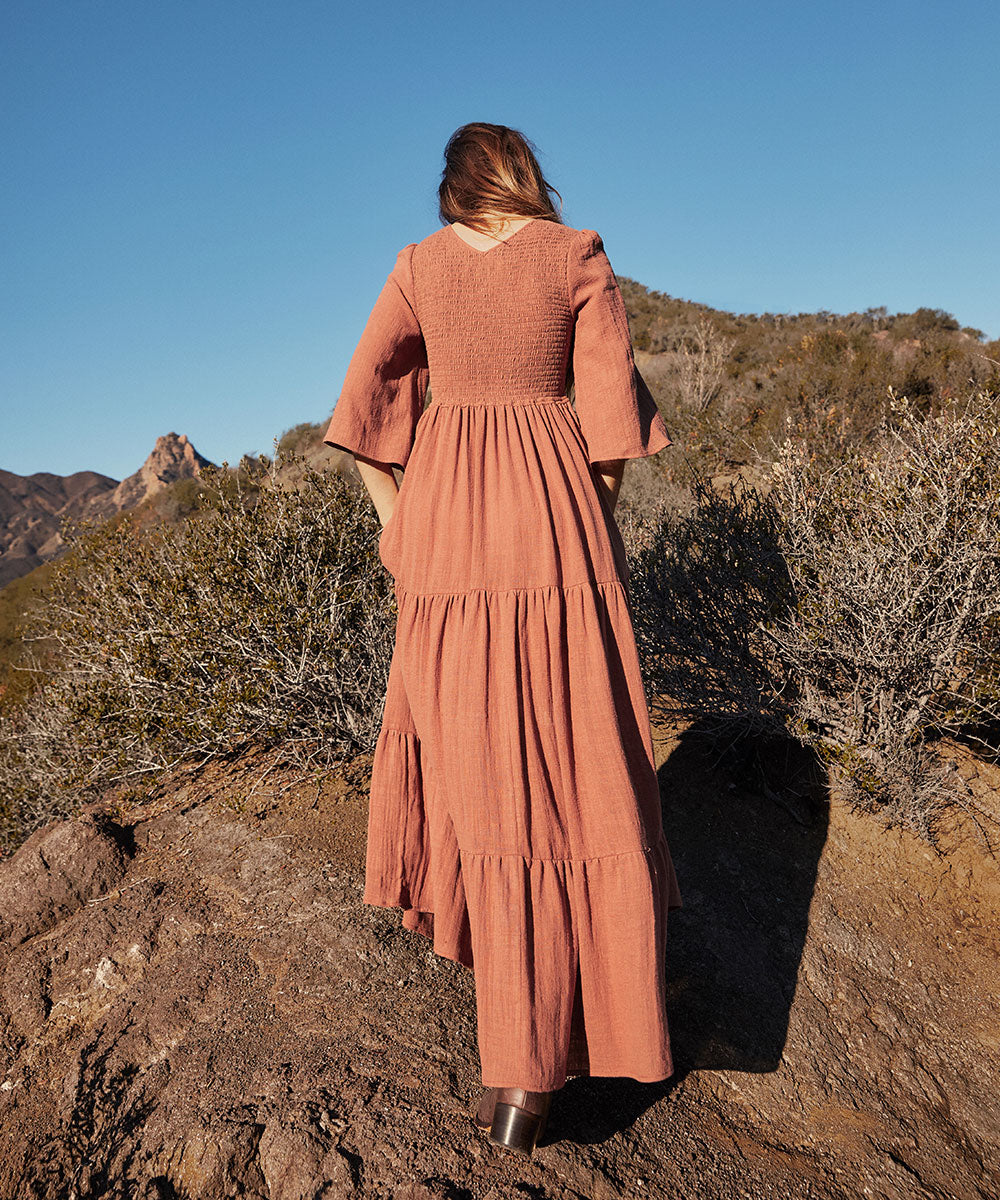 The Basil Dress | Clay