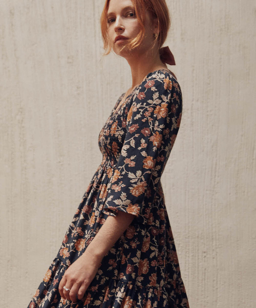 The Basil Dress Petites | Shibori Rose