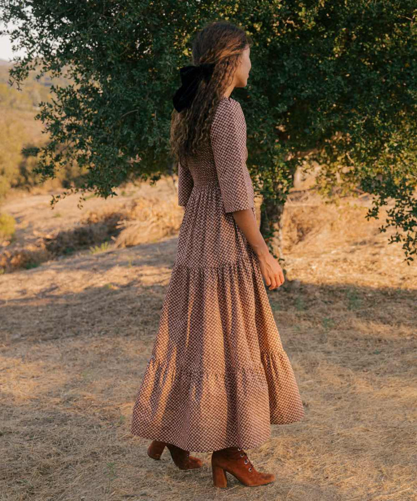 The Basil Dress | Clay Anemone Field