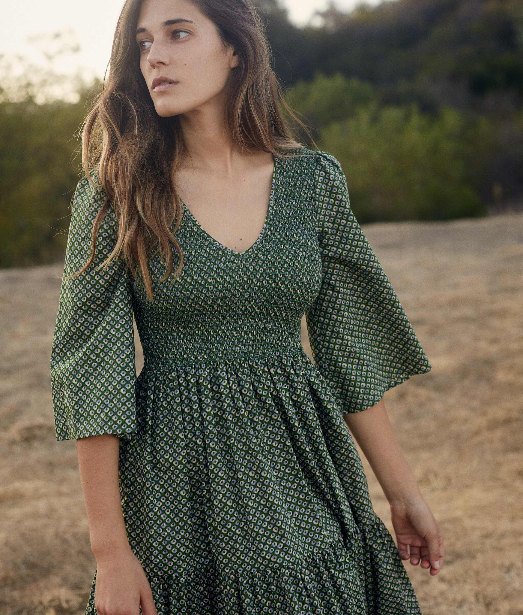 The Basil Dress | Linden Anemone Field