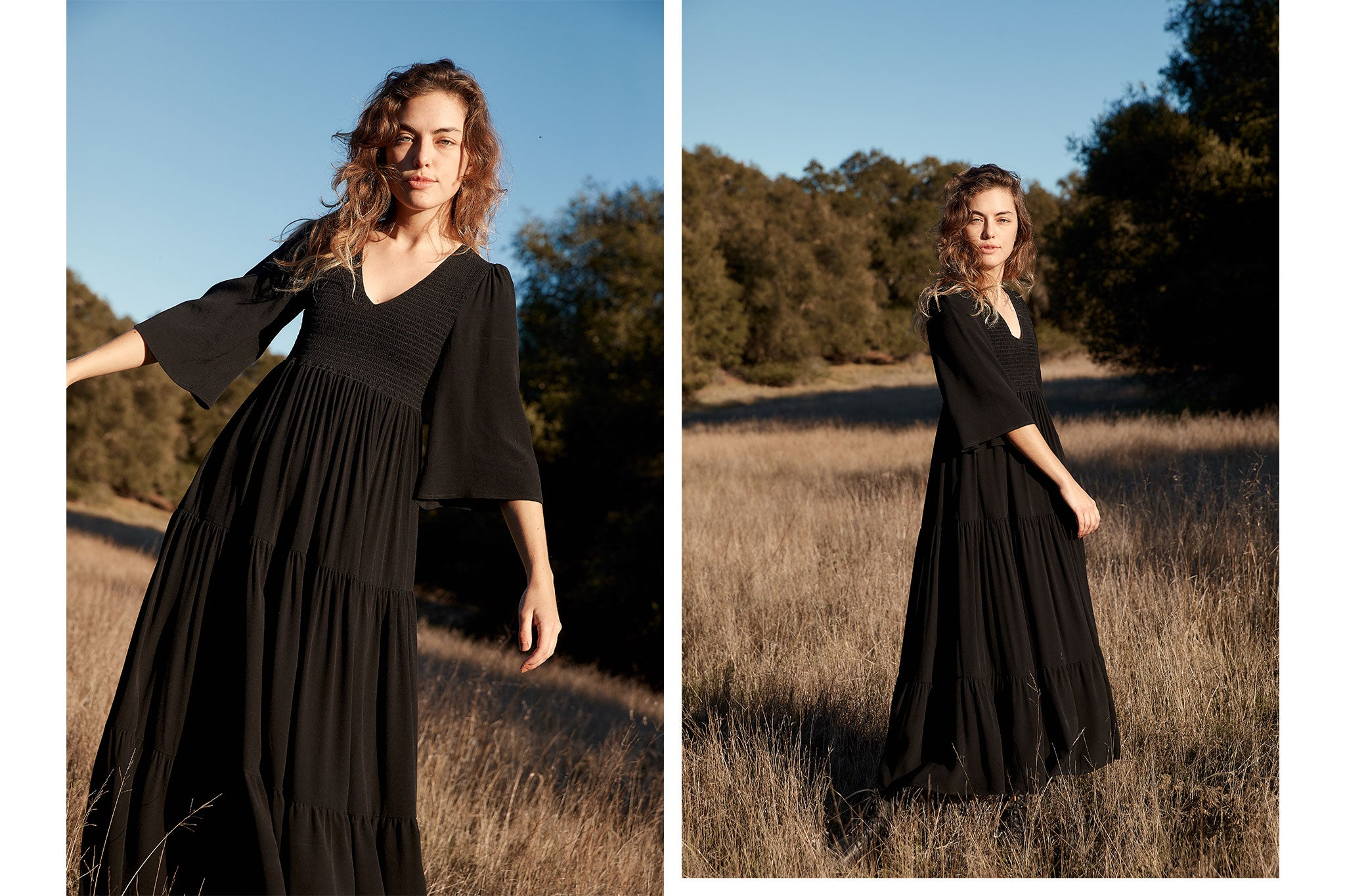 The Basil Dress Petites | Noir