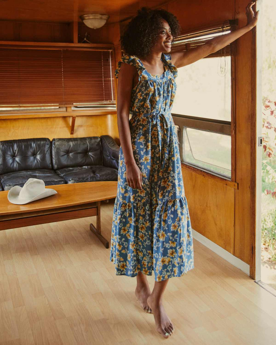 The Benny Dress | Umber Meadow Silk