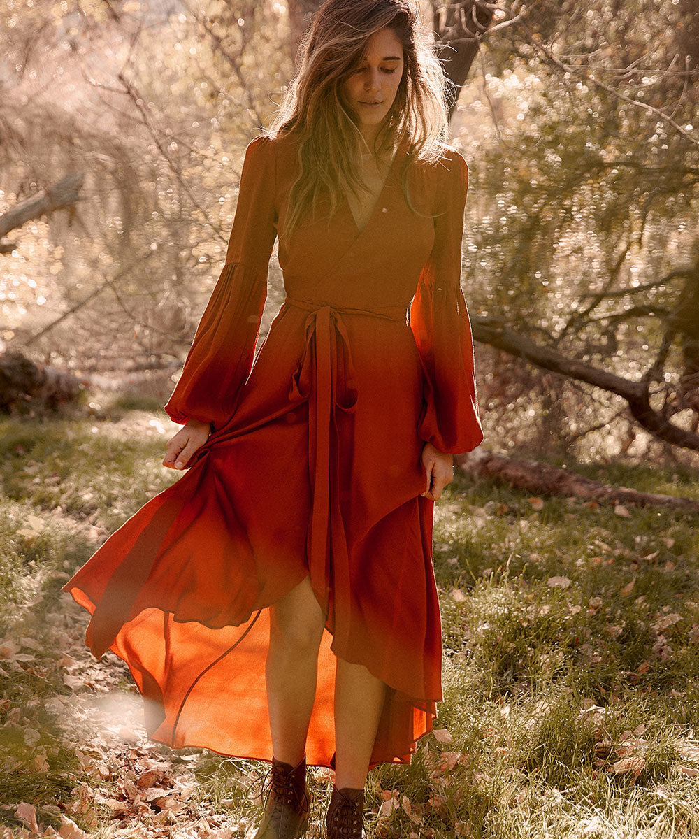 The Bergen Dress | Rust