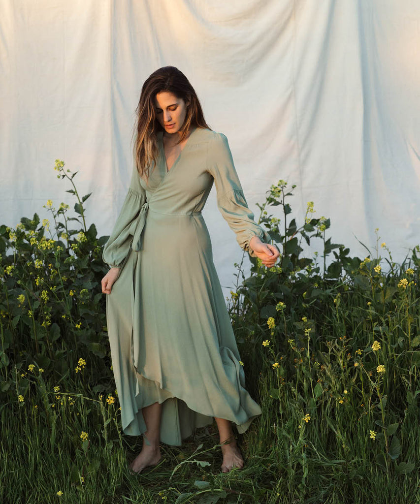 The Bergen Dress | Washed Linden image 2