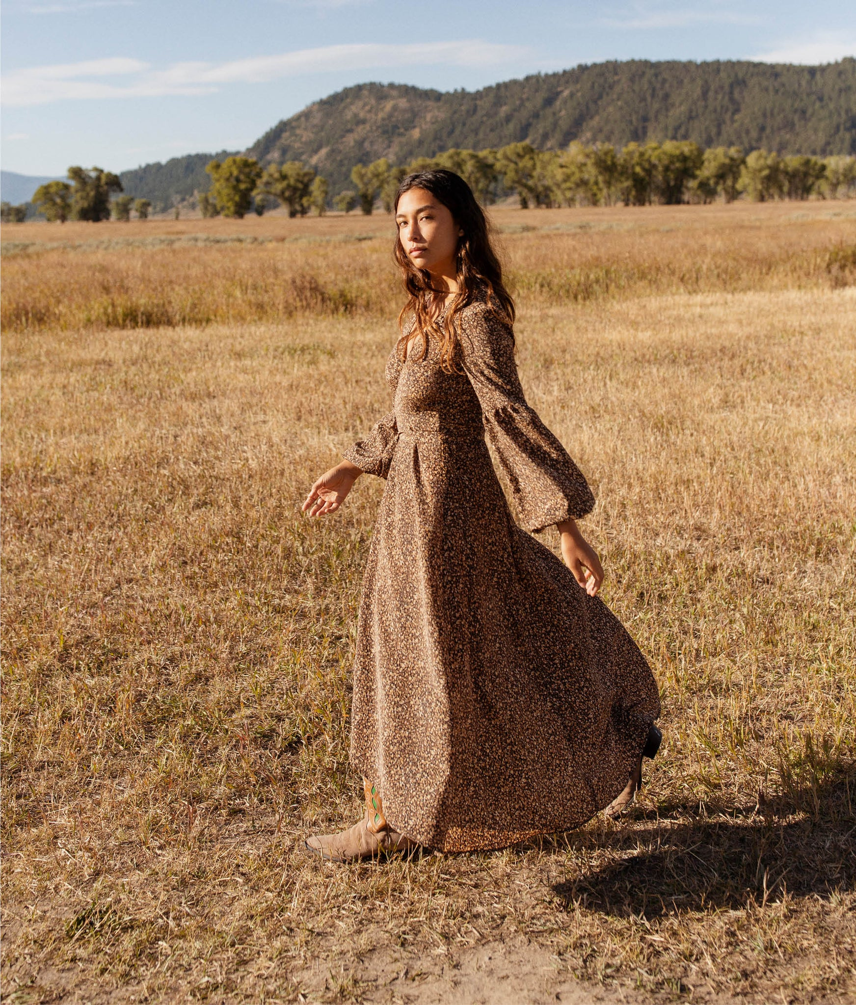 The Bergen Dress | Autumn Leaves