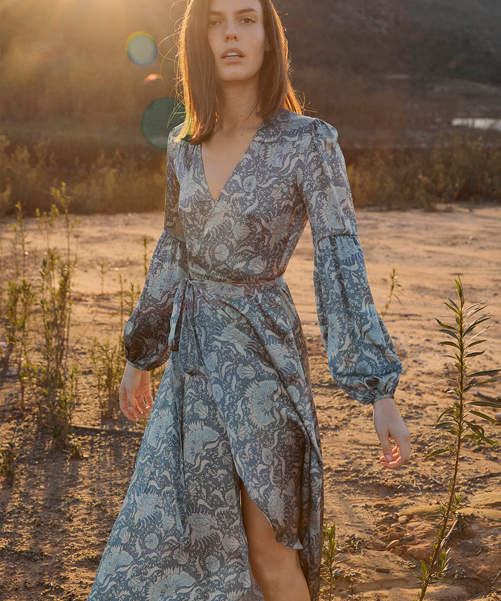 The Bergen Dress | Sky Paisley (3-of-a-kind)