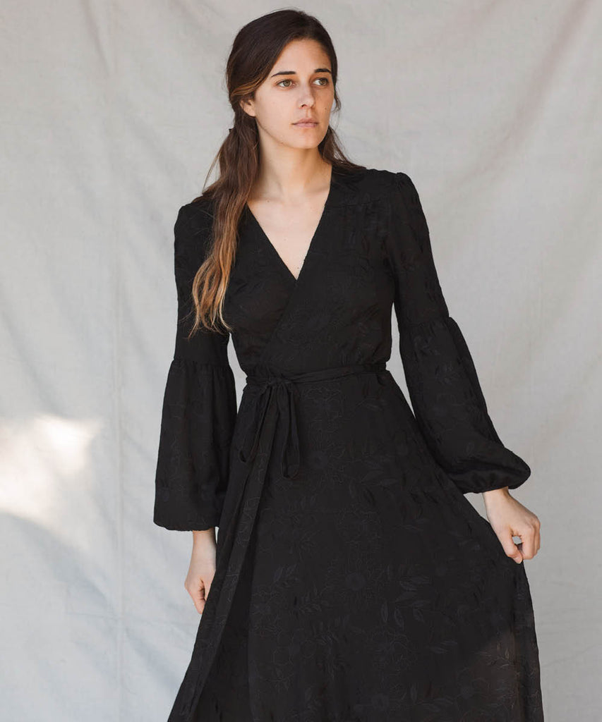 The Bergen Dress | Antique Noir Embroider