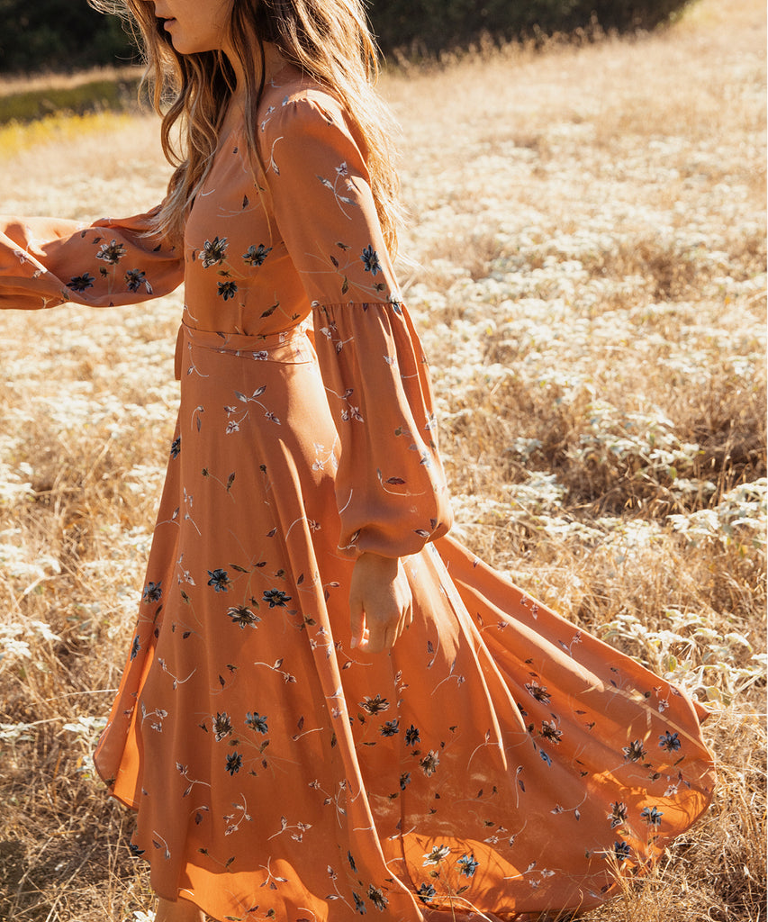 The Bergen Dress | Terracotta Floral image 7