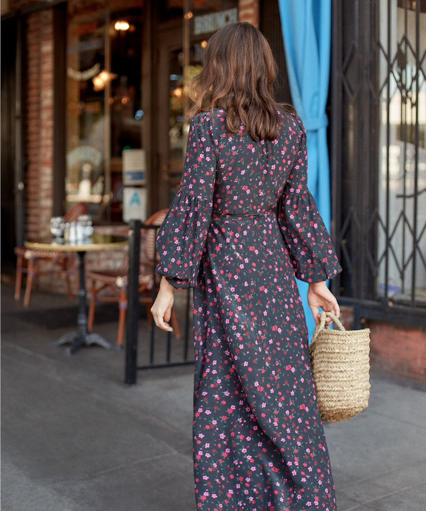 The Bergen Dress | Fuchsia Garden