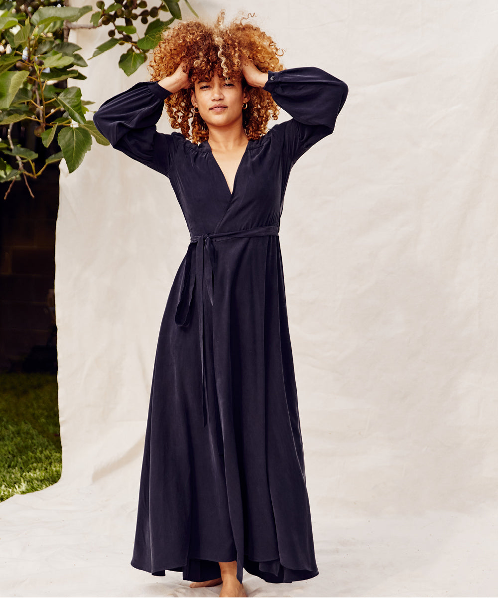 The Bergen Dress Petites | Washed Midnight
