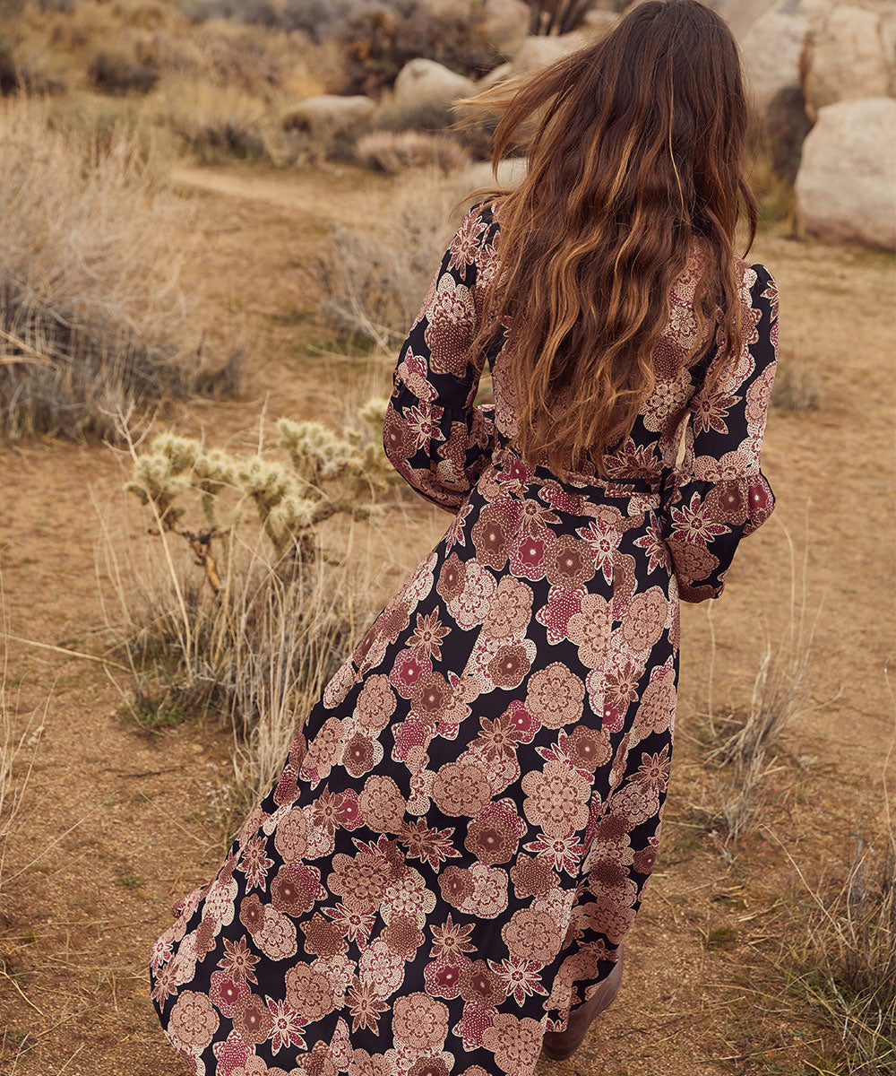 The Bergen Dress | Night Blossom